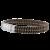Bracelet-Homme-Argent-Coton-Spirale-Marron