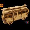 MAQUETTE EN BOIS COMBI VW VOLKSWAGEN HIPPY CHIC FABRICATION ARTISANALE FRANCAISE 13