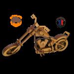 MAQUETTE EN BOIS MOTO CHOPPER HARLEY 6DAVIDSON