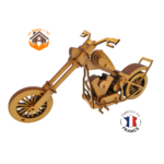 MAQUETTE EN BOIS MOTO CHOPPER HARLEY DAVIDSON 1