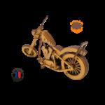 MAQUETTE EN BOIS MOTO CHOPPER HARLEY DAVIDSON 2