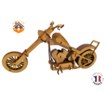 MAQUETTE EN BOIS MOTO CHOPPER HARLEY DAVIDSON 3