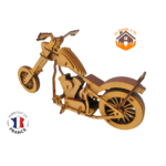 MAQUETTE EN BOIS MOTO CHOPPER HARLEY DAVIDSON