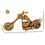 MAQUETTE EN BOIS MOTO CHOPPER HARLEY DAVIDSON DIMENSIONS