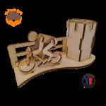 MAQUETTE EN BOIS POT A CRAYONS CYCLISTE TOUR DE FRANCE FABRICATION ARTISANALE FRANCAISE 8