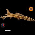 MAQUETTE EN BOIS AVION JET FIGHTER Northrop F-5 FABRICATION ARTISANALE FRANCAISE 4