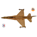 MAQUETTE EN BOIS AVION JET FIGHTER Northrop F-5 FABRICATION ARTISANALE FRANCAISE 7