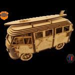 MAQUETTE EN BOIS COMBI VW VOLKSWAGEN HIPPY CHIC FABRICATION ARTISANALE FRANCAISE 4