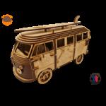 MAQUETTE EN BOIS COMBI VW VOLKSWAGEN HIPPY CHIC FABRICATION ARTISANALE FRANCAISE 7