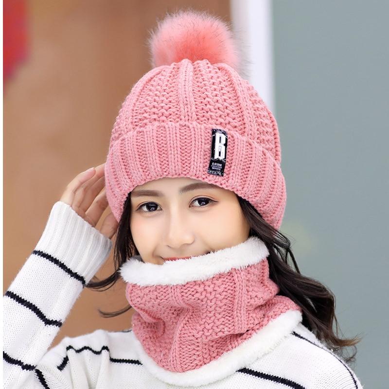 Marque hiver tricoté bonnets chapeaux femmes épais chaud