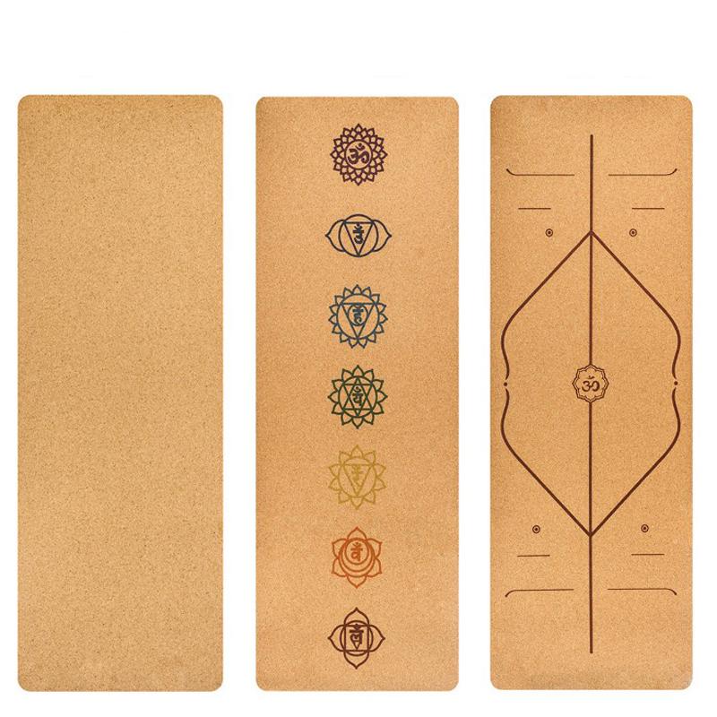 183X68 cm en liège naturel TPE tapis de sport de Fitness tapis de sport tapis de Yoga antidérapants 5 mm absorber la sueur sans odeur