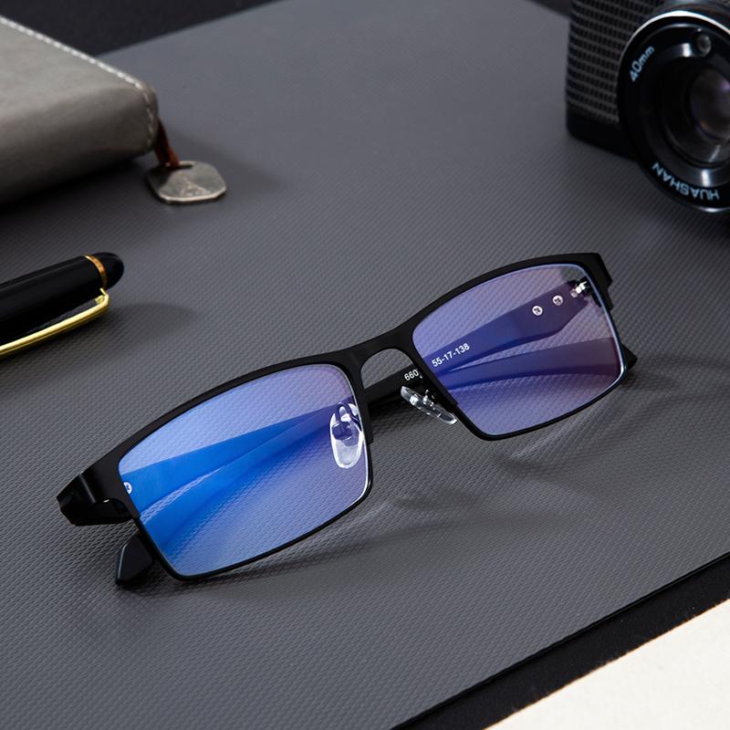 Lunettes d\'ordinateur en titane Anti-lumière bleue bloquant le filtre réduit la fatigue oculaire