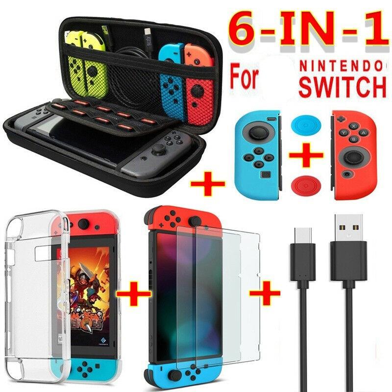 Jeu-d-accessoires-de-jeu-6-en-1-noir-rouge-bleu-pour-ntint-Switch-sac-de