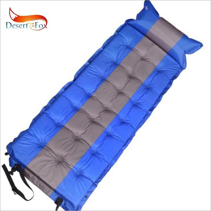 Désert & Fox 186x62 cm auto-gonflant coussins de couchage avec oreiller d\'air, unique tente matelas d\'air