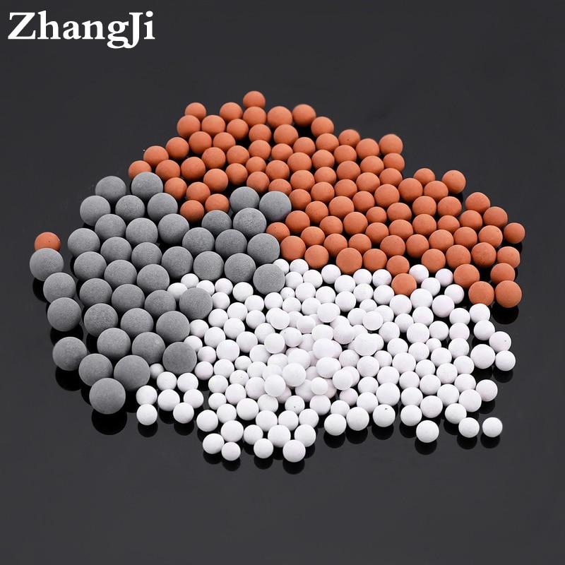 Perles de rechange pour pommeaux de douche Purification de l\'eau Perles minérales en céramique pour ions négatifs pour filtre
