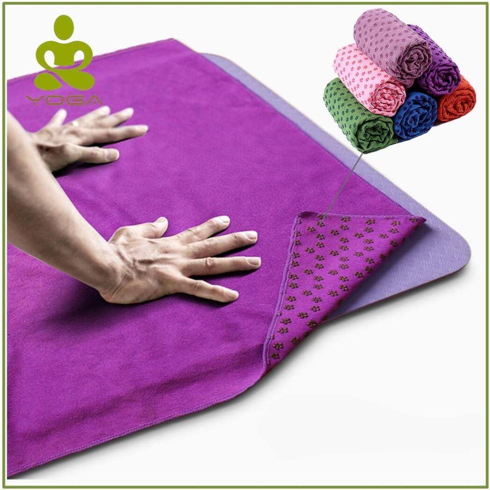 183 cm * 61 cm Tapis de Yoga antidérapant couverture serviette anti-dérapant microfibre tapis de Yoga serviettes Pilates couvertures Fitness