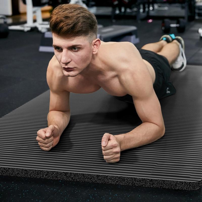 185X80X1.5 cm hommes Gym tapis grande taille NBR antidérapant Yoga tapis pour Fitness tapis 15 mm