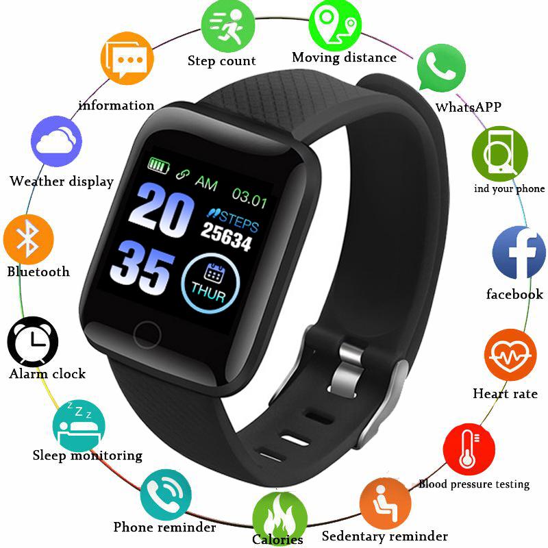 nouveau montre intelligente hommes pression artérielle étanche 116 Smartwatch femmes moniteur de fréquence cardiaque fitness montre Sport pour Android IOS