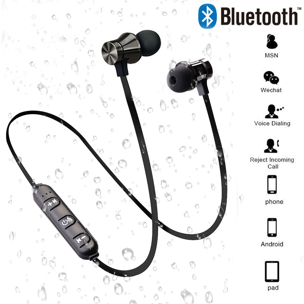 écouteur XT11 musique casque Magnétique sans fil bluetooth téléphone tour de cou sport écouteurs écouteurs avec micro pour iPhone Samsung Xiaomi