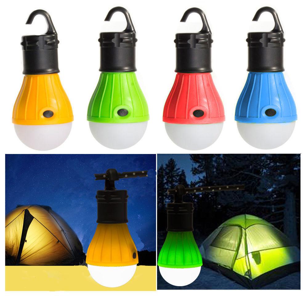 Mini lanterne Portable tente ampoule LED lampe de secours étanche crochet lampe de poche pour Camping