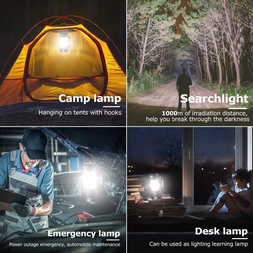 Lumière USB Lampe de Camping En Plein Air Portatif Lampe Suspendue LED Lampe Rechargeable