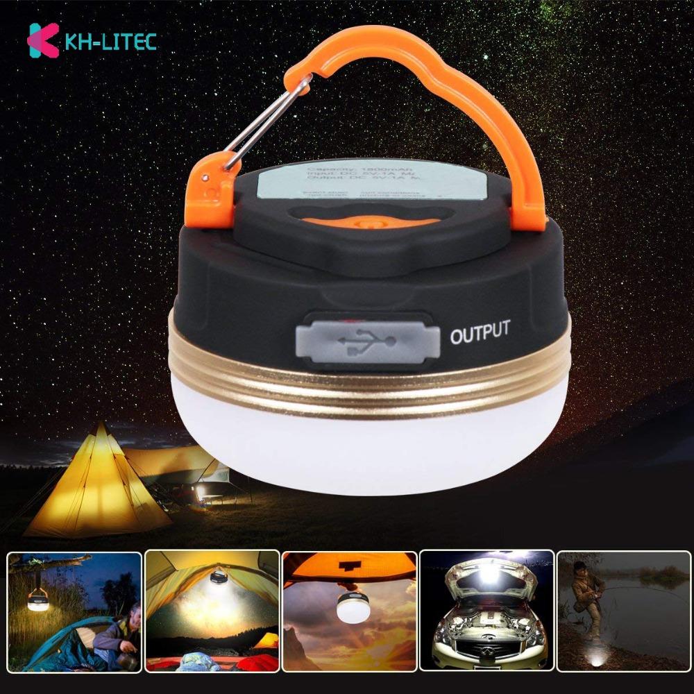 KHLITEC Mini Camping Portable lumières 3 W LED Camping lanterne tentes lampe extérieure randonnée nuit lampe suspendue USB Rechargeable