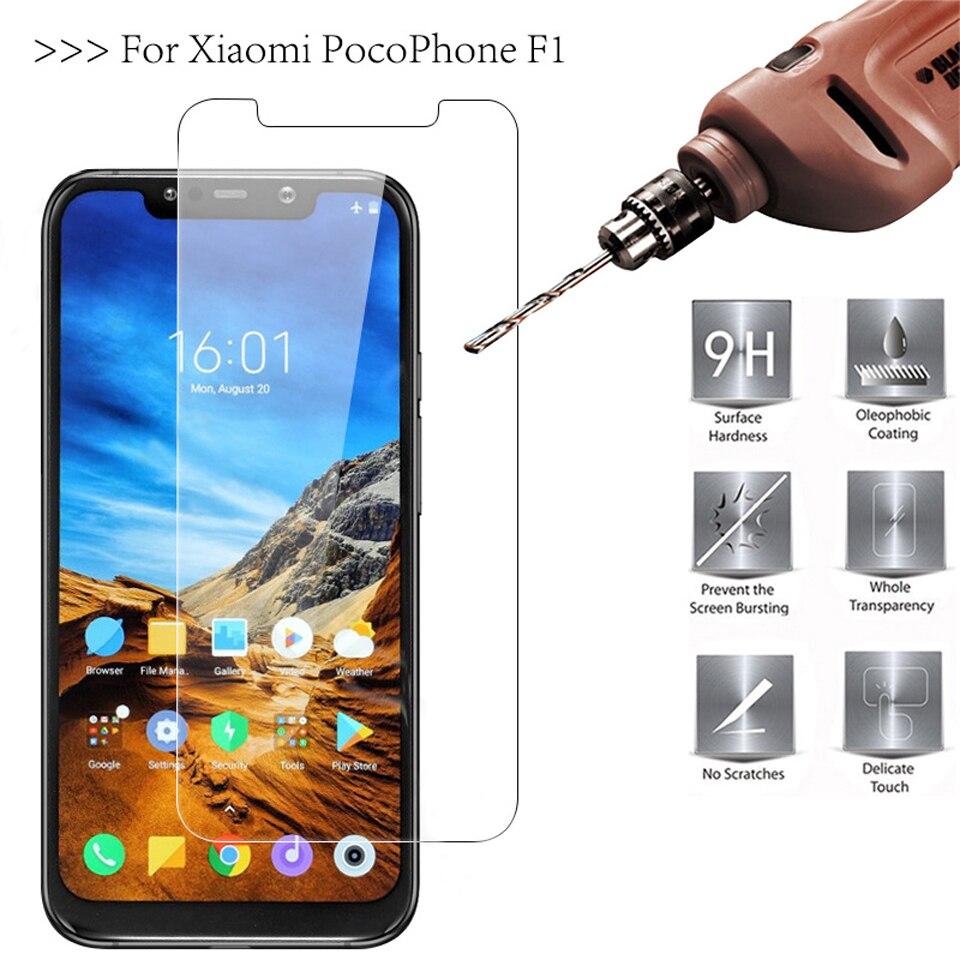 ProtectIon D\'écran 9 H 2.5 D 0.26 mm Verre Trempé Pour Xiaomi Pocophone F1 Mi Max 2 3  Film Protecteur