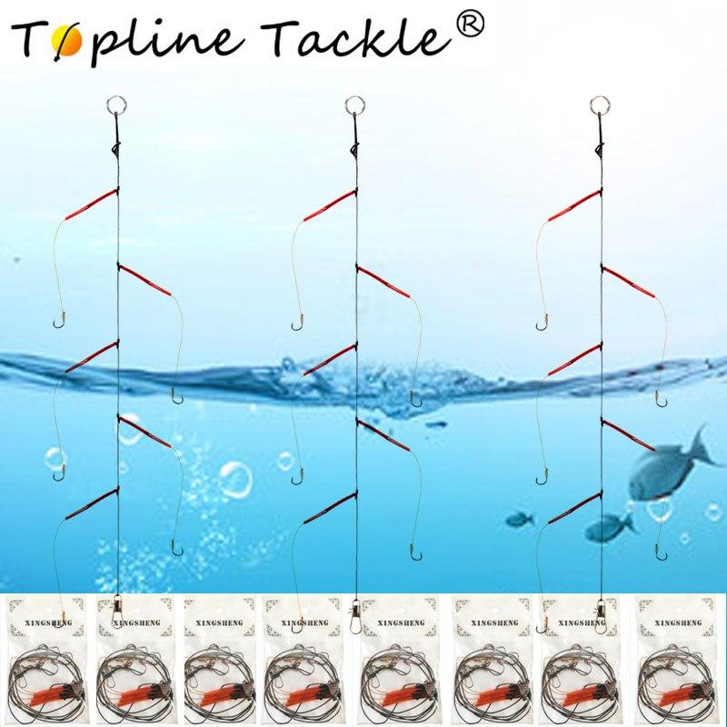 Hameçons acier inoxydable pivotant matériel de pêche leurres  5 petits crochets