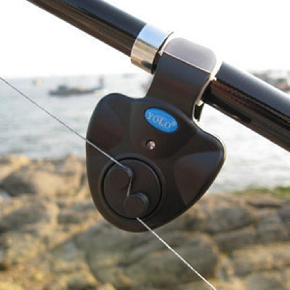 Alarme de pêche universelle lumière LED électronique détecteur d\'alarme alerte sonore pince à lumière LED sur canne à pêche