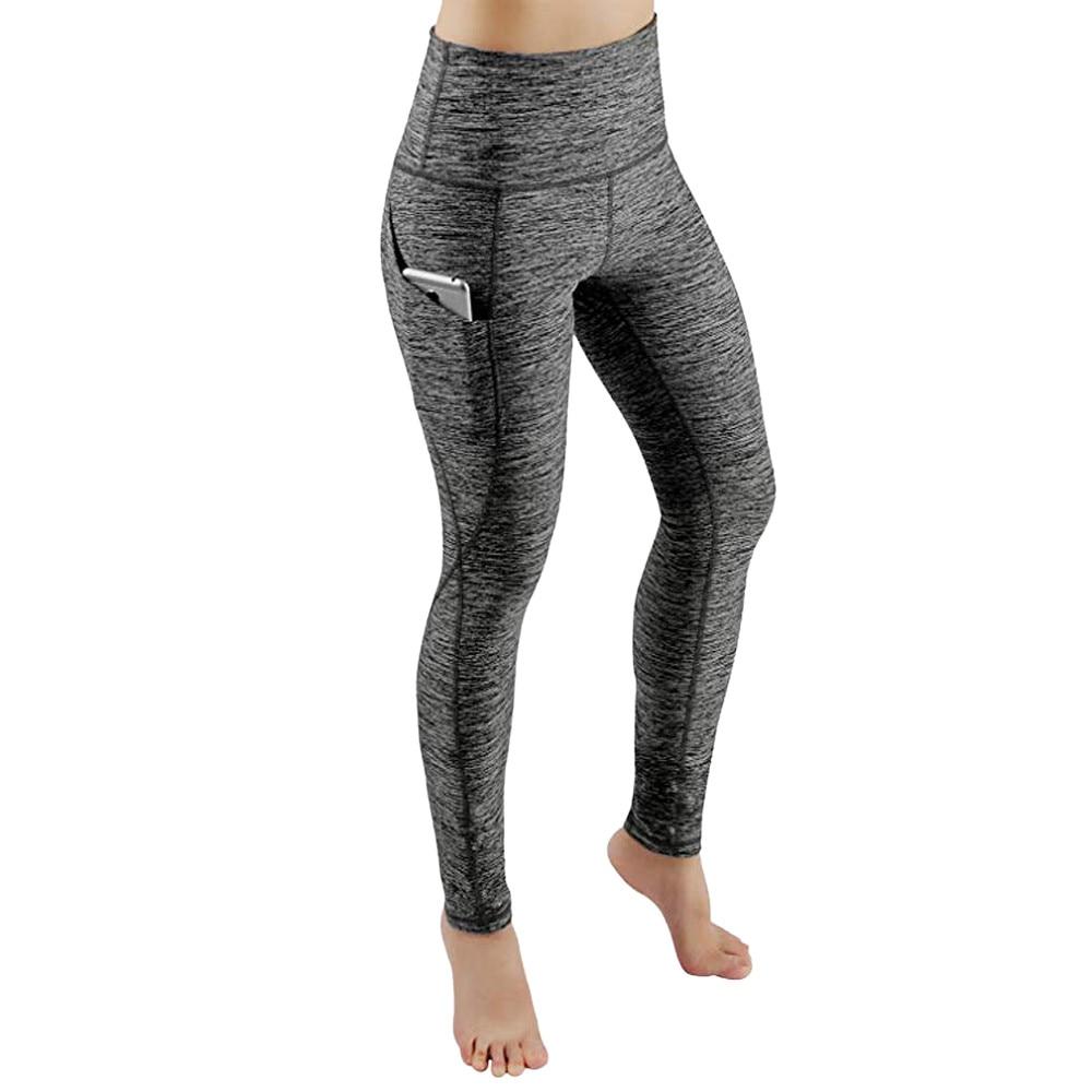 leggings avec poche pour gymnastique Fitness entraînement collants de course femmes Sport