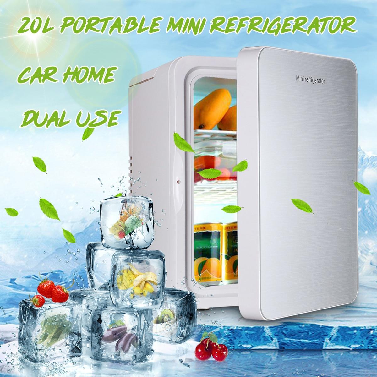Double usage maison voiture 20L réfrigérateur Portable réfrigérateur Mini réfrigérateurs 12V 56W