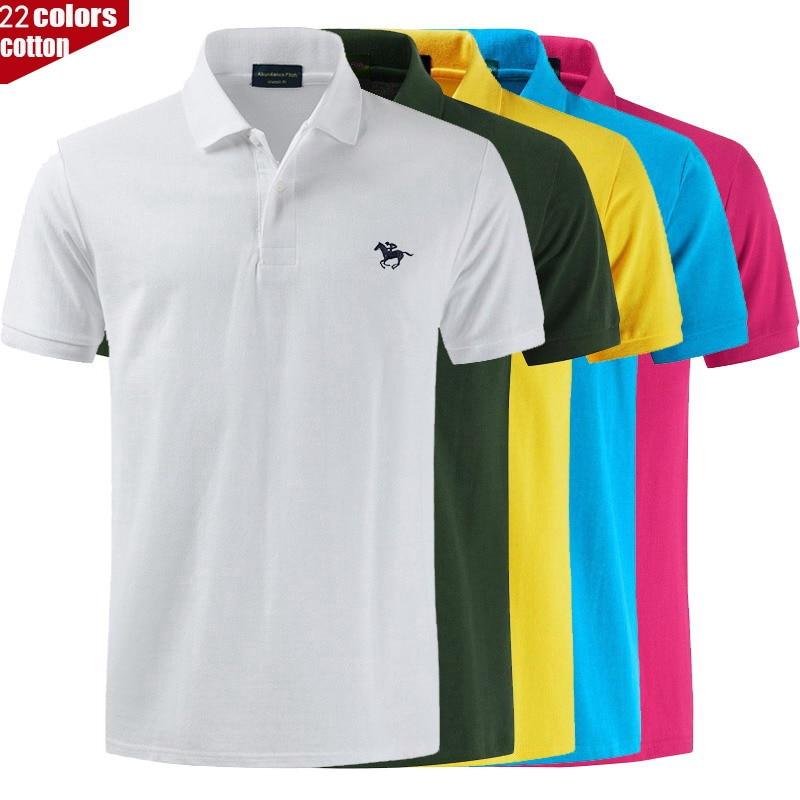 Haute qualité Polo logo couleur marque Polo décontracté polos hommes à manches courtes