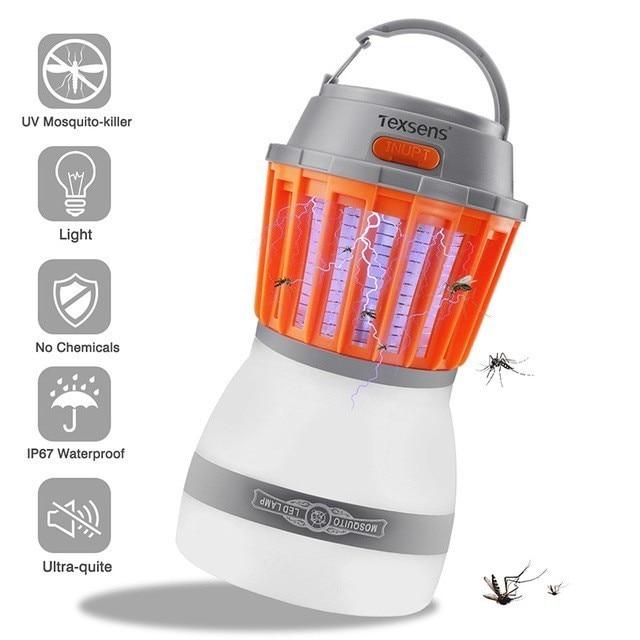 Texsens LED tueur de moustiques lampes/lumière USB 2 en 1 antiparasitaire électronique tueur mouche Bug piège lumière insecte Bug répulsif Zapper
