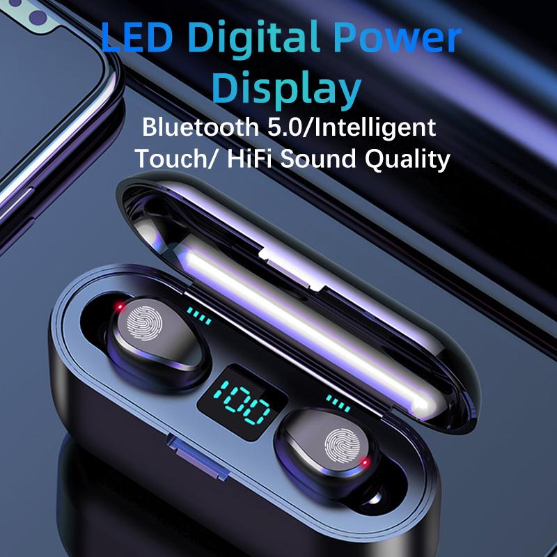 écouteurs  sans fil Bluetooth, casque sans fil, 5.0, écouteurs TWS, Mini-oreille, sport, Support de casque de course, téléphones iOS/Android, appels HD