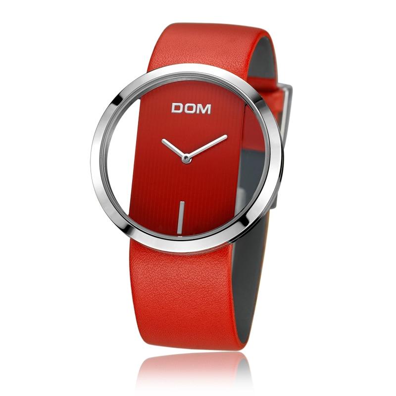 montre femmes de luxe mode décontracté 30 m étanche montres à quartz bracelet en cuir véritable