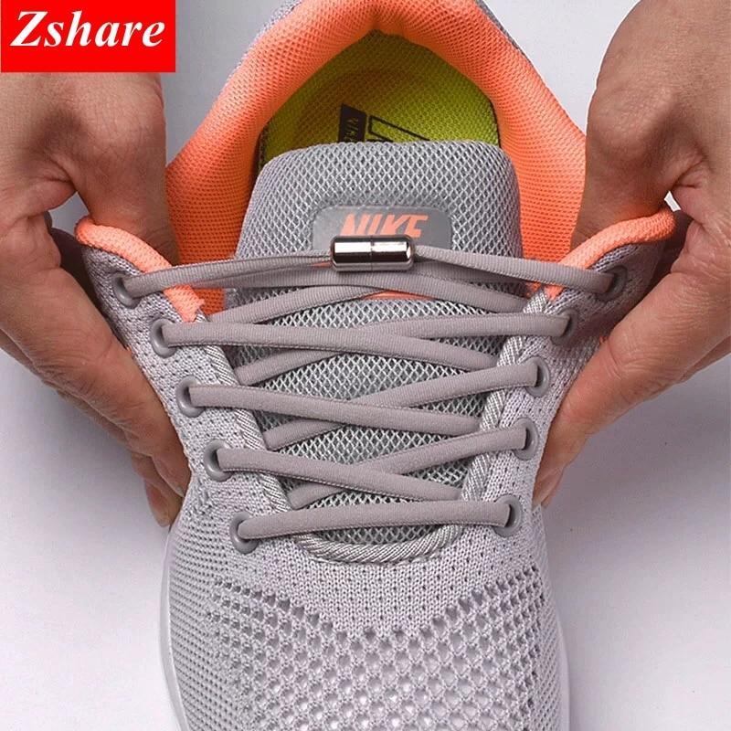 1 paire de lacets de chaussures élastiques ronds pour enfants et adultes baskets nike adidas reebok rapide