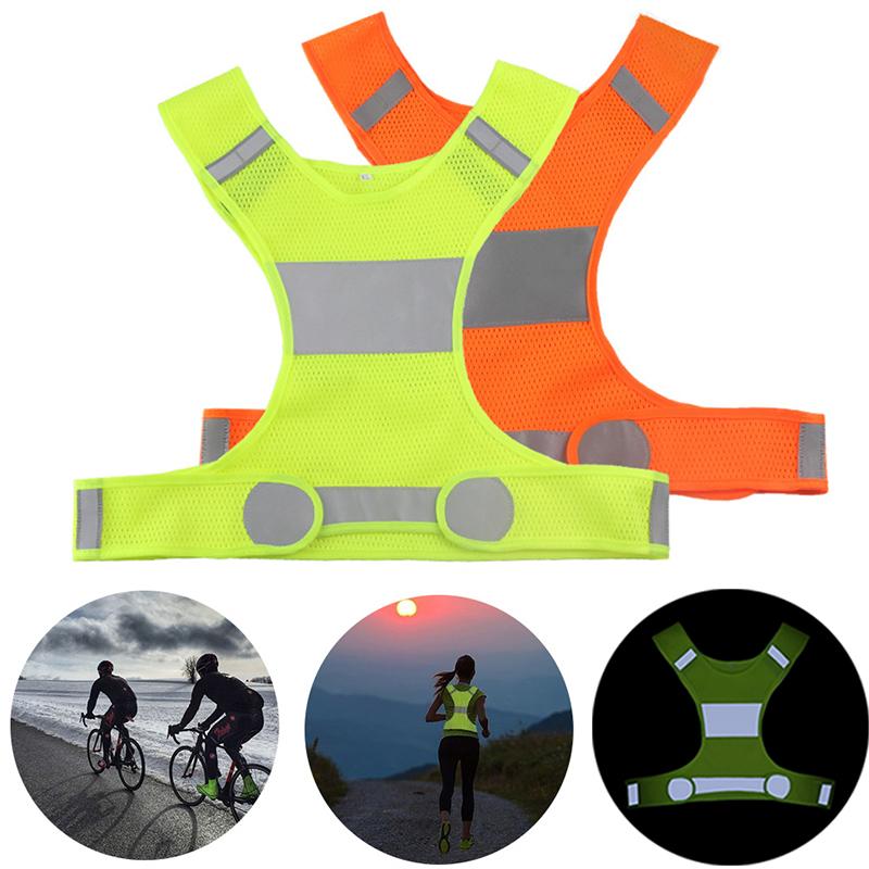 Gilet réfléchissant haute visibilité unisexe gilets de sécurité en plein air gilet de cyclisme hommes femmes travail nuit course sport