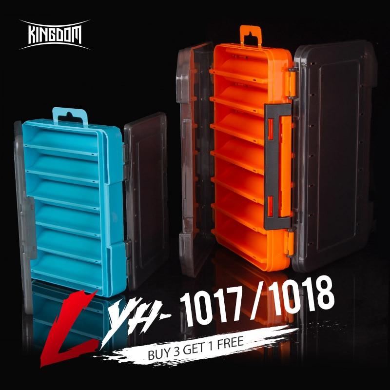 Organisateur de boîte à outils utilitaire Hergon avec double face en forme de V, 14 compartiments, boîte de pêche, appât pour leurre