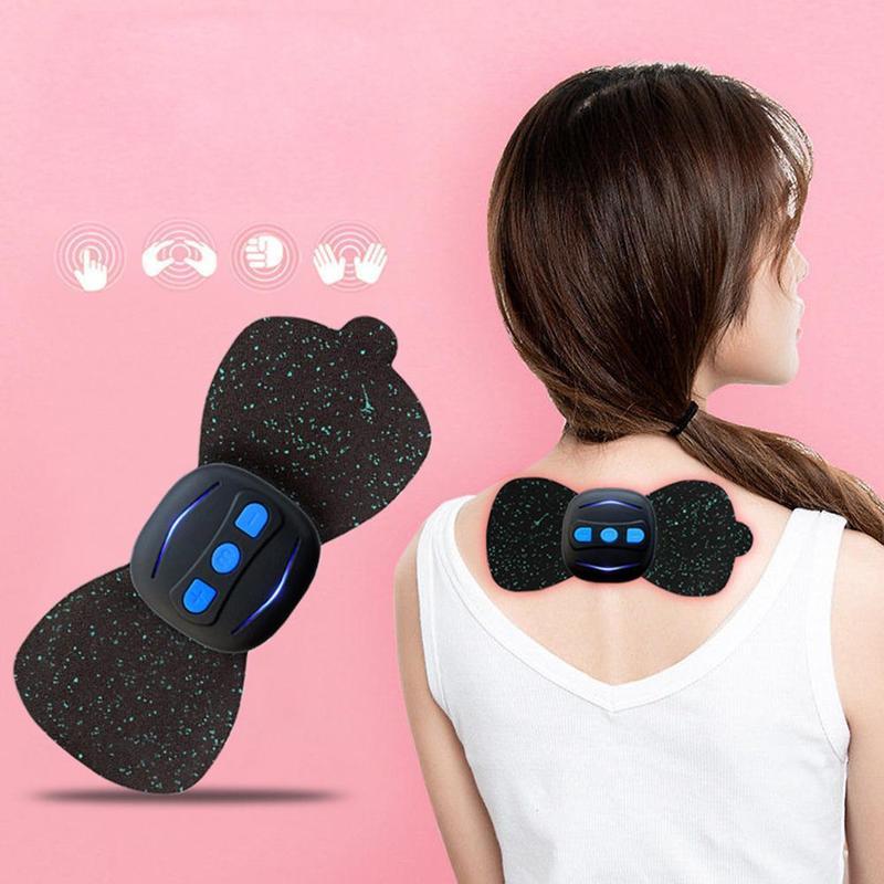 Intelligente Masseur Cervicales Et De Cou,Multifonction Électrique Instrument De Physiothérapie Épaule Cou Mini Masseur Cadeau Massage Autocollant,Soulager La Fatigue