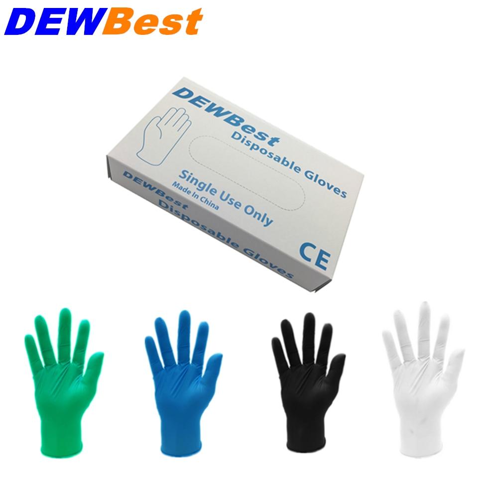 gants en Nitrile noir de haute qualité huile de Nitrile jetable et gant en Latex industriel en gros