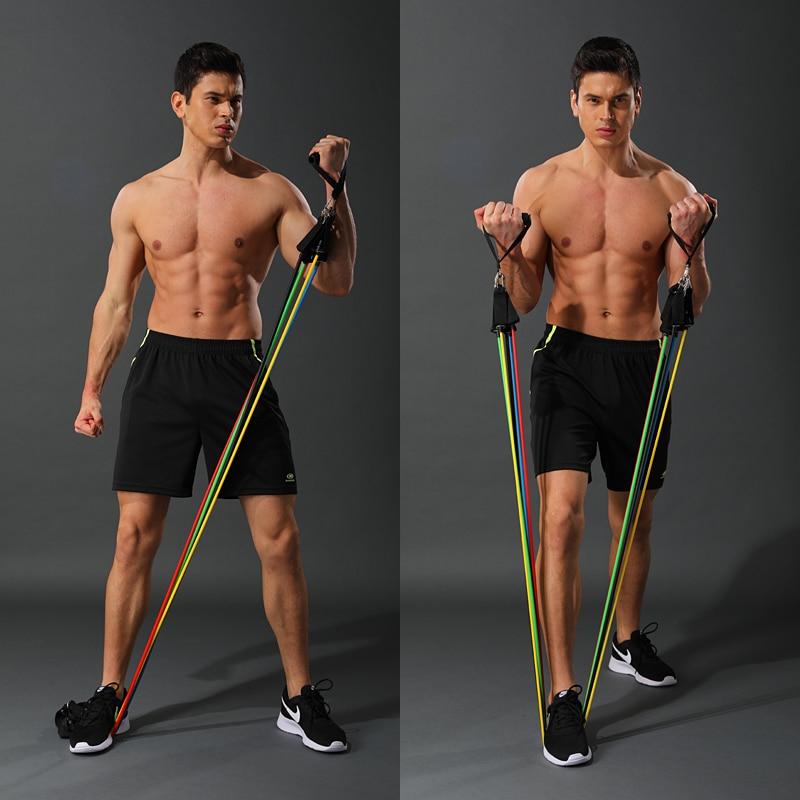 11-pi-ces-ensemble-Latex-bandes-de-r-sistance-Crossfit-entra-nement-corps-exercice-Yoga-Tubes