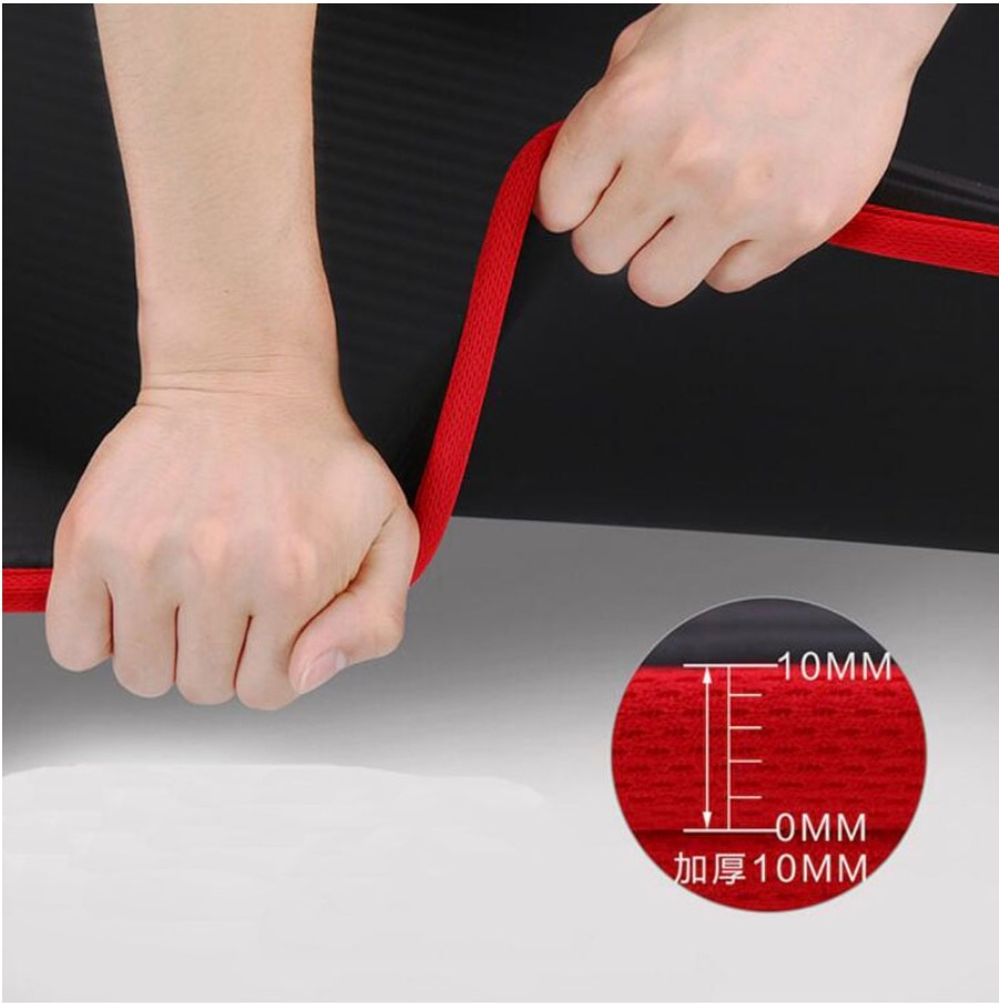 10mm Épais anti-dérapant Tapis De Yoga Résistant À la Déchirure NBR Tapis De Fitness Exercice