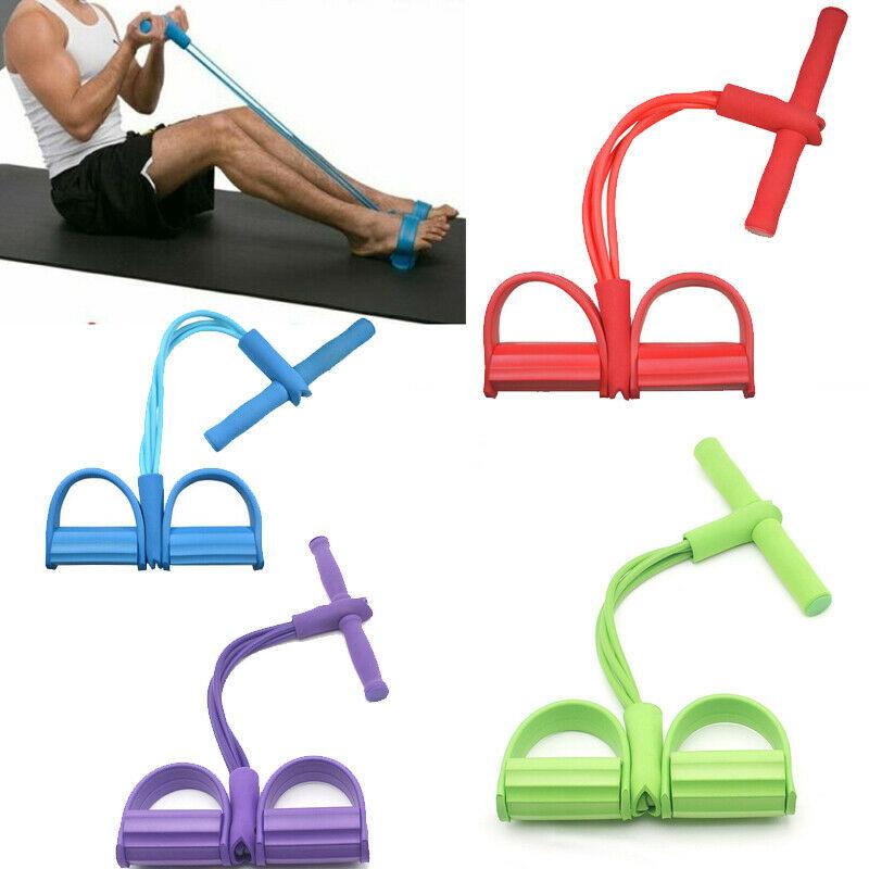 Fitness-gomme-4-bandes-de-r-sistance-de-Tube-Latex-p-dale-exercice-assis-up-tirer