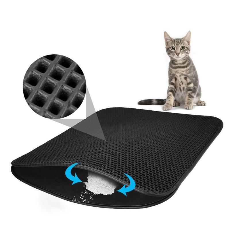 Tapis de litière pour Chat pour Le bac à litière - Tapis Imperméable - plusieurs tailles