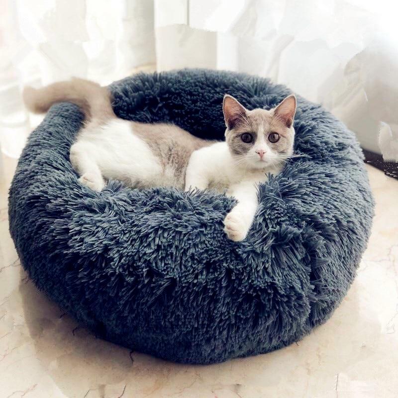 Chien lit, Chaud Tapis de Chien Rond Coussin Grande Taille Panier Lavable pour Chat Animaux