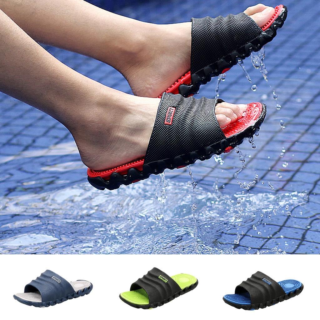 sandales pour hommes d\'été occasionnels en plein air pantoufles Gentleman Massage décontracté soins de santé anti-dérapant plage
