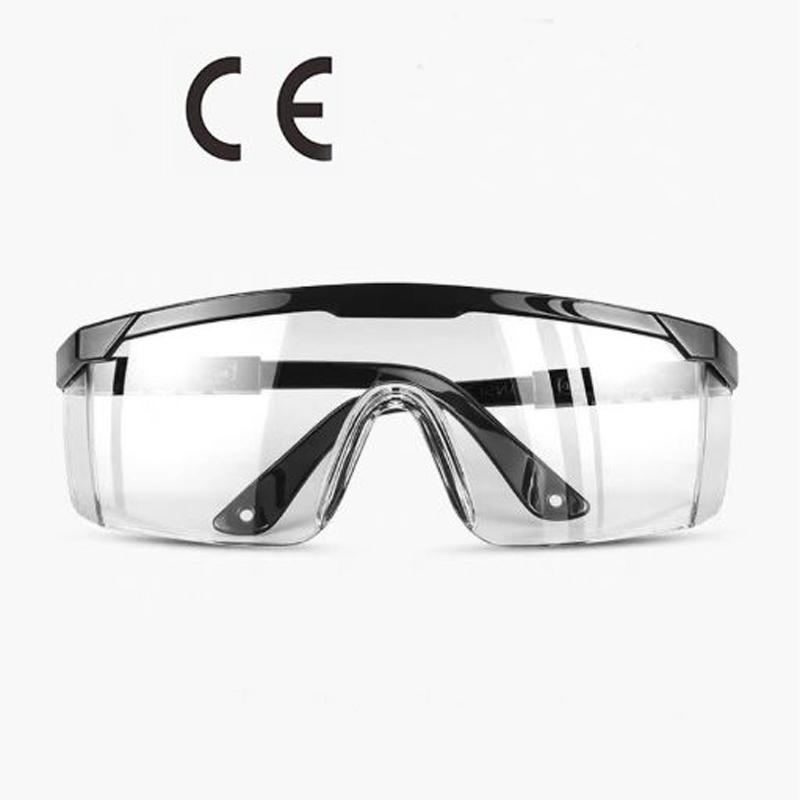 Protection antivirus Volets de côtés Transparent lunettes Style Médecin En Plastique Prévention contre postillons Lunettes Masque Pour Les Yeux