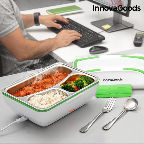 Boite de déjeuner électrique pro blanc vert gamelle repas