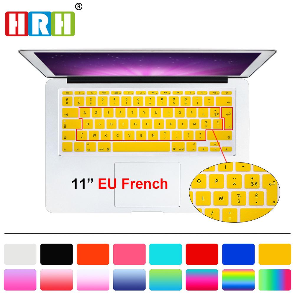protection clavier ordinateur français UK/EU protecteur de peau pour Mac Book Air 11 11.6 pouces A1465/A1370