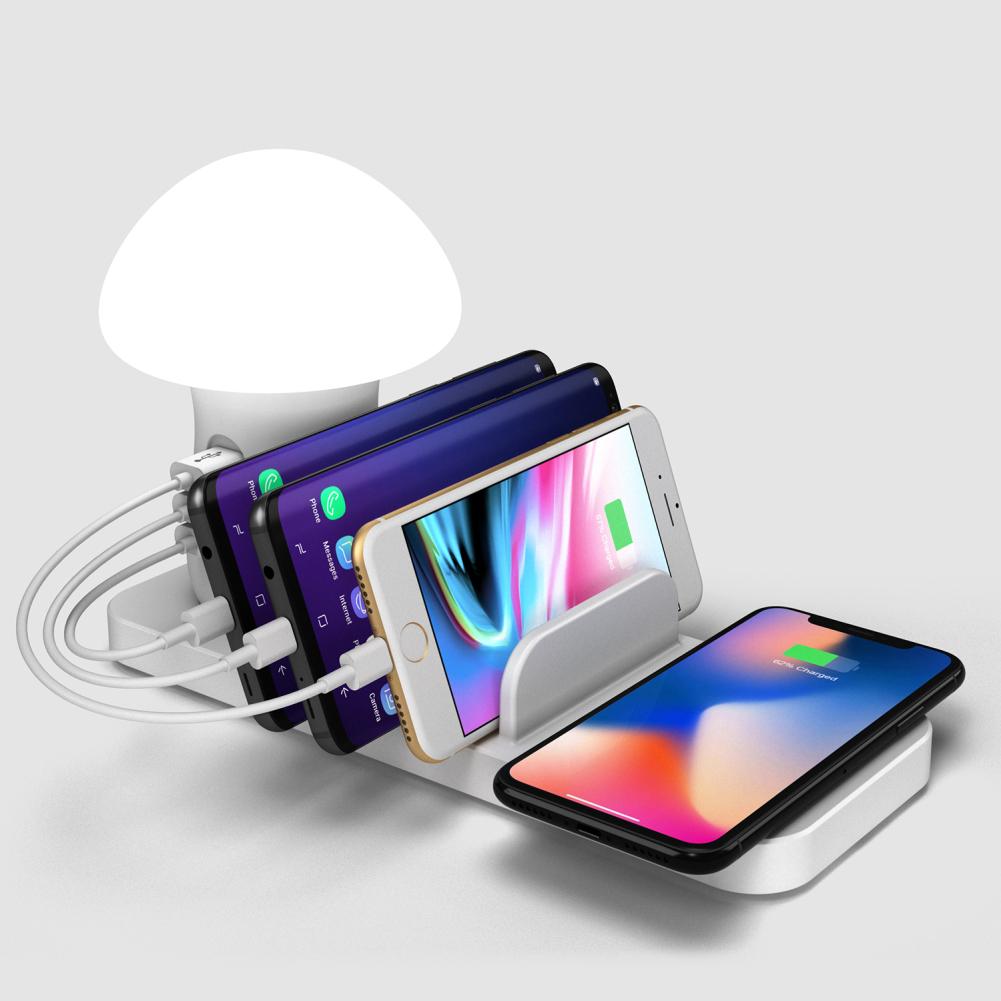 Chargeur rapide 3 en 1 sans fil USB chargeur rapide pour iPhone Samsung